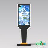 Visualizzazione di pubblicità dell'interno dell'affissione a cristalli liquidi dello schermo di tocco