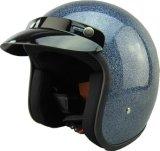 Casque ouvert de moto de face d'éclaille en métal