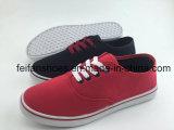 新しいデザイン男女兼用のキャンバスの注入の靴、アフリカの市場(FFCS112105)のための偶然のスニーカーの靴