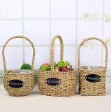 (BC-SF1019) Eco-Friendly Handmade естественная корзина цветка сторновки