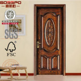 Antique Wood Door Design Door Company Solide Main (GSP2-067)
