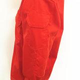 Vêtements de travail ignifuges de vêtement de Salut-Force de Proban de yard de sergé avec la tirette et la bande magique