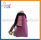 Embreagem de ombro de PU Mini saco de beleza de moda com corrente