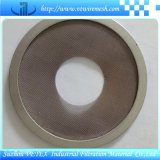 Tejido de acero inoxidable malla de alambre de disco de filtro