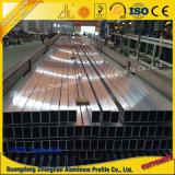 Tubo di alluminio con il formato personalizzato 6063 T5-T6
