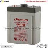 batterie d'acide de plomb de 2V500ah AGM pour l'éclairage de secours d'UPS
