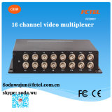 16 채널 Video Transmitter와 Receiver Over Optical Mux