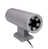 RGB 6W 두 배 측면광 옥외 LED 벽 빛