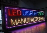 Placa video do diodo emissor de luz da mensagem programável do desdobramento