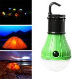 야영 하이킹 긴급 램프를 위한 3*AAA 휴대용 방수 LED 천막 전구