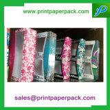 Anunció el rectángulo de regalo de papel con la ventana clara del PVC