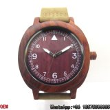 Relógio de madeira do Sell quente, relógios de madeira da melhor qualidade