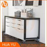 Офис/домашняя таблица пульта завальцовки металла черноты углерода мебели
