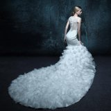 Appliques Real Photo Zipper Wedding Dress (ZXB-33)