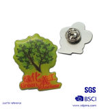 도매 금속 선행 (xd-0901)를 위한 싼 무지개 리본 접어젖힌 옷깃 Pin