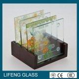 Migliore vetro di vetro stampato di stampa della matrice per serigrafia della parte superiore del sottobicchiere