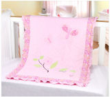 Samt Patchwork Quilt in Pink Flower Super Sweet für Baby Made in China