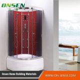 Cabina grande de la ducha del rectángulo con vapor y masaje