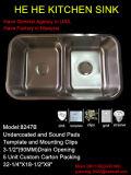 Dispersore, doppio dispersore di cucina della ciotola 50/50 di Undermount, acciaio inossidabile 304 con il dispersore di Cupc, Sink8247b Handmade