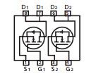 Transistor Stm6915 van het Dubbele N-Channel Effect van het Gebied van de Wijze van de Verhoging