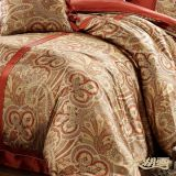 Taihu Snow Home Textile Made em China Luxury Hot Drilling Silk Printing Wedding Bedding Set