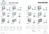 Utilisation simple en verre du matériel B009 de porte coulissante pour la salle de bains