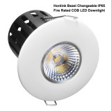 IP65 do incêndio afiado da ESPIGA do banheiro 10With12W diodo emissor de luz Rated Downlight Dimmable