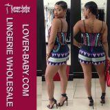 Großhandelsfrauen-Sommer-Kurzschluss-beiläufiges Kleid (L28025)