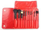 10 Stück-rote Serien-Schönheits-Geräten-rote Griff-Ziege-Haar-Verfassungs-Pinsel