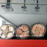 Faisceau solide ou câble blindé fortement appuyé de secteur de la bande en acier intérieure Twisted XLPE de conducteur