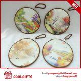 Práctico de costa de cerámica del corcho con la sublimación y cuerda para el regalo de Christams