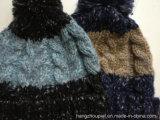 L'uomo ha torto il cappello di inverno lavorato a maglia filato speciale (SHMH16001)