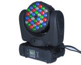 Illuminazione capa mobile del LED del fascio professionale della lampadina 36*3W DMX LED