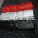 L'alta qualità a buon mercato ha personalizzato il sacchetto di plastica stampato della maglietta del nero dell'HDPE