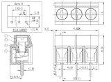 Bloque de terminales de tornillo con la echada de 5.0/10.0 milímetros (WJ126)