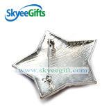 Distintivo a forma di stella del metallo di stile della bandierina