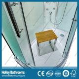 L Form-hoher Ende-Kombinations-Dusche-Kasten mit Spiegel und Sitz (SR211C)
