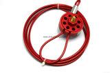 Tipo flexível colorido fechamento da roda do cabo para a tubulação da válvula