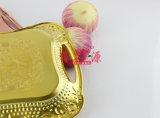 El acero inoxidable electrochapa la bandeja de la flor (FT-0627)