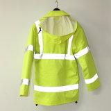 Куртка PU желтой известки Lucifer с капюшоном/плащ/одежда отражательных/безопасности для взрослого