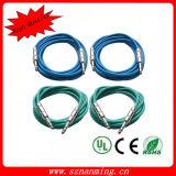 De elektrische Kabel van de Gitaar met MonoStop 6.35
