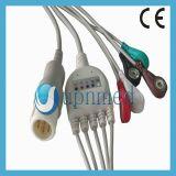Cable de una pieza de Philips ECG con los Leadwires 8pin