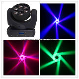 diodo emissor de luz Beam Moving Head Bee Eye do quadrilátero 6*12W