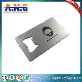 Élégant imperméable à l'eau durable de carte de visite professionnelle de visite en métal estampé