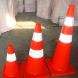 Leuchtstoff rotes Straßen-Verkehrssicherheit-Sprung-Zeichen mit reflektierendem Band