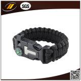 Kompass-Überleben Paracord Armband mit Plastikfaltenbildung und Firmenzeichen
