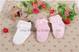 Comfortabele Dubbele Katoenen van het Manchet Pasgeboren Sokken met Leuke Boog in het Manchet