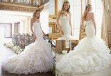 2017 сексуальных подгонянных платьев Princess венчания Tull невесты Mermaid,
