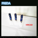 HRC60 a enduit des fraises en bout 2/4 pour l'acier de usinage de dureté