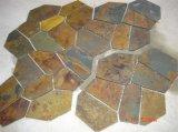De hete Gele Natuurlijke Steen van de Lei voor Techniek en de Decoratie van de Muur